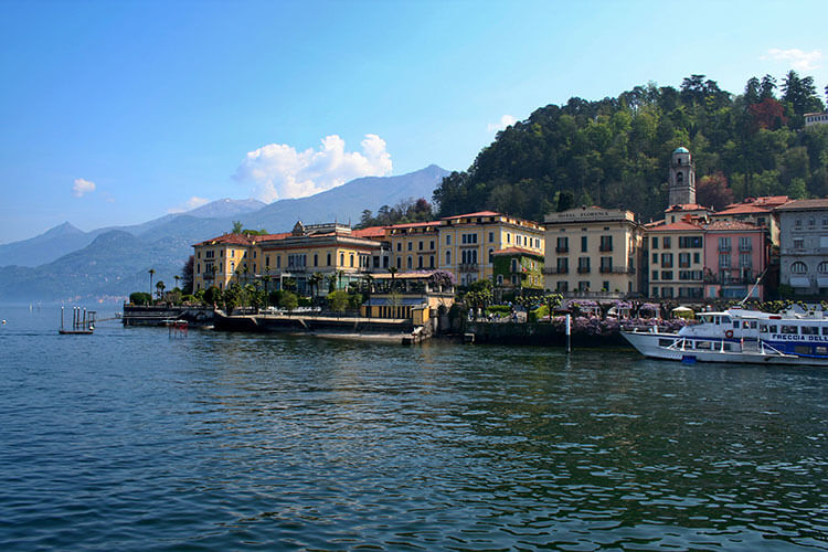 Villa Serbelloni sits on water at the end of Bellagio