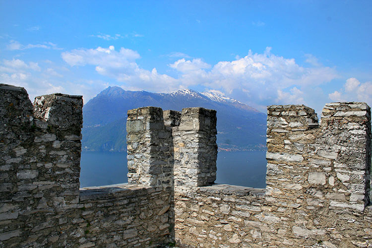 Looking out over Lake Como from the turret at Castello di Vezio