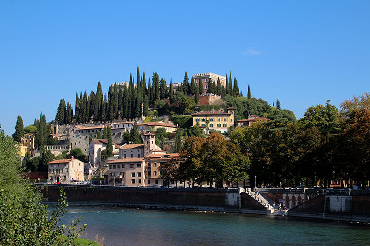 Castel San Pietro caps a hill overlooking the Adige River in Verona