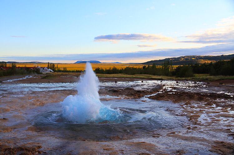 Strokkur erupting, Golden Circle, Iceland