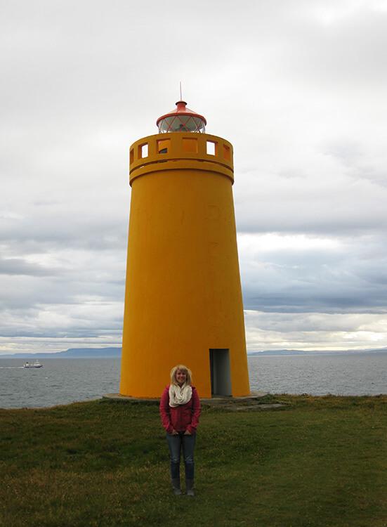 Hólmsbergsviti lighthouse, Reykjanes Peninsula