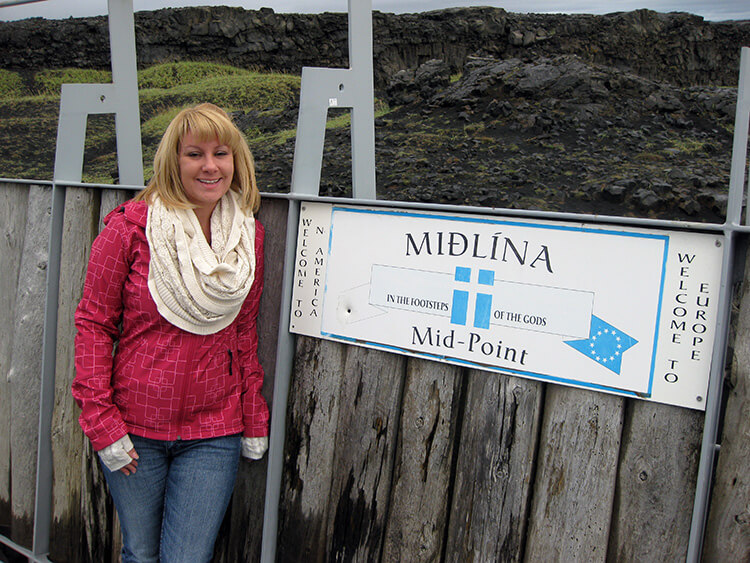 Lief the Lucky Bridge, Reykjanes Peninsula
