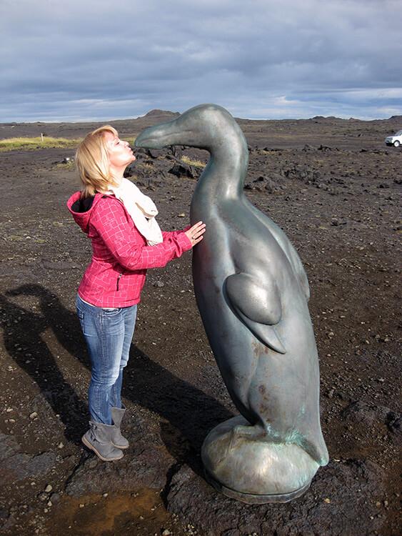 Geirfugl á Reykjanesi, Reykjanes Peninsula, Iceland
