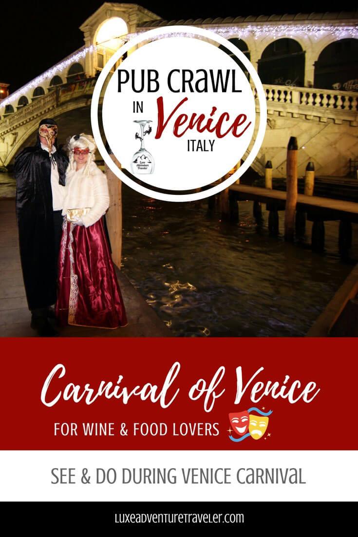 Venice Carnival Pub Crawl Pinterest Pin