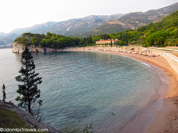 The Pink Sand Beaches Of Sveti Stefan