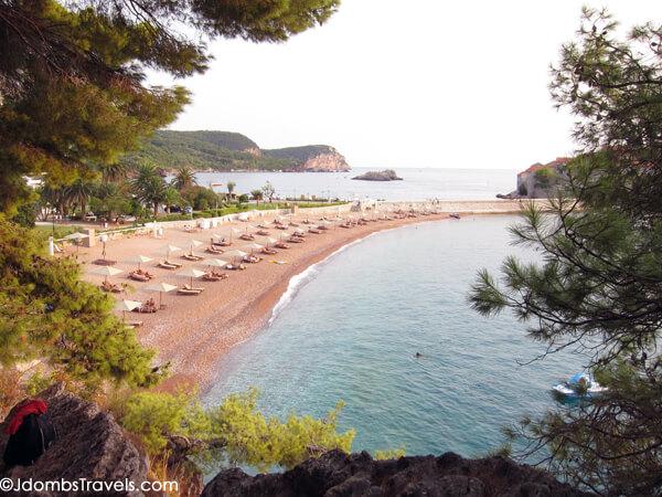 The Pink Sand Beaches Of Sveti Stefan