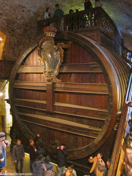 The Worlds Largest Wine Barrel And Heidelberg Castle