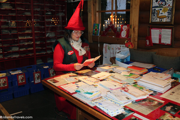 Christina the Elf reads letters from children around the world