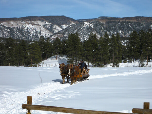 Sleigh ride in Durango, Colorado