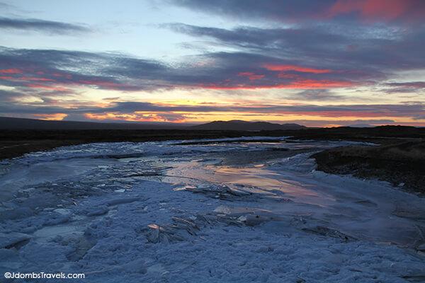 December 31 Sunrise at Þingvellir: 11:20am