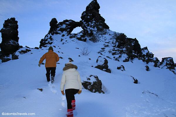 Climbing at Dimmuborgir