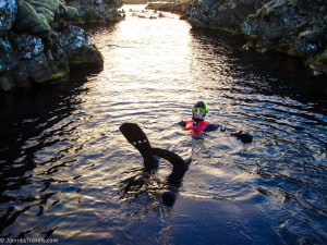 Snorkeling Silfra: Our Coldest Adventure Yet