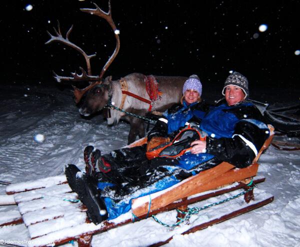 Reindeer Sleigh Ride in Tromso, Norway