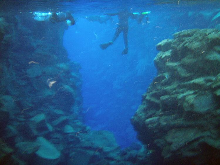 Snorkeling Silfra, Iceland