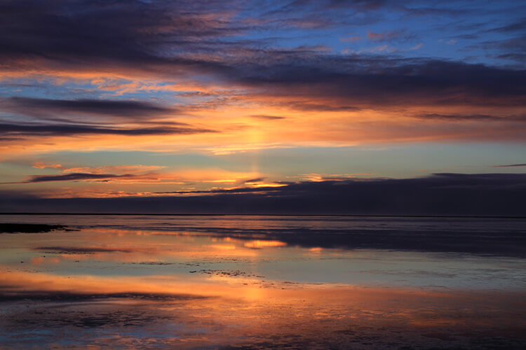 Sunrise in winter, Iceland