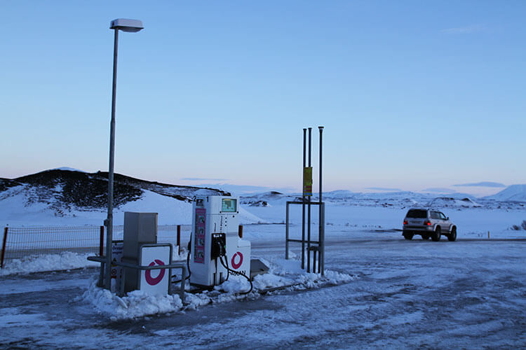 A typical Iceland gas station