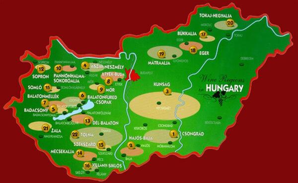 Hungary Wine Regions
