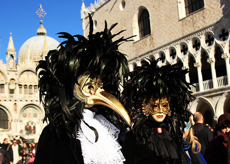 The Plague Doctor Venice Carnival mask had a beak like a bird
