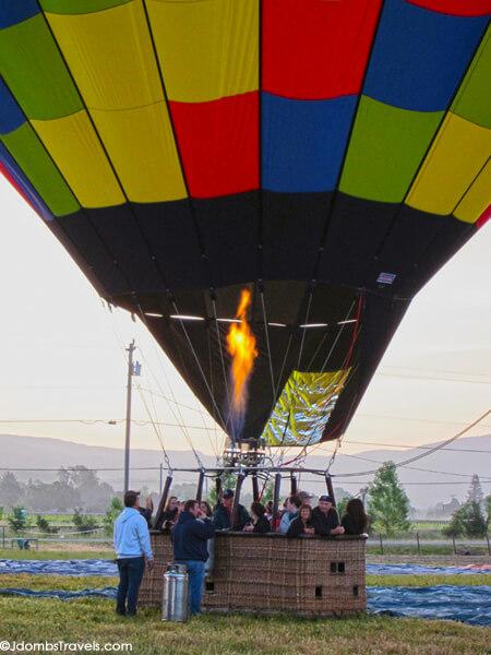 Ballooning over Napa Valley