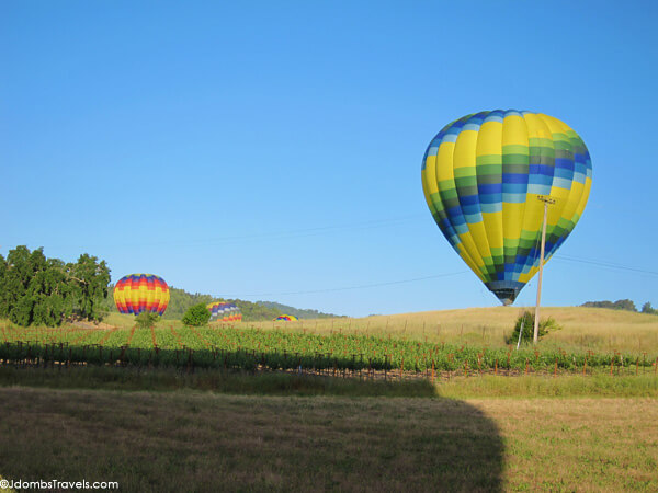 Ballooning over Napa Valley