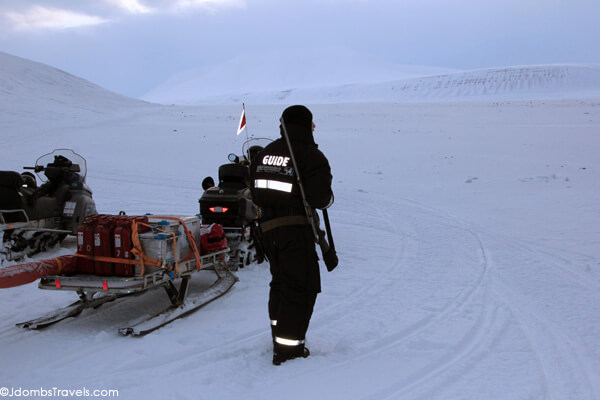 Snowmobile safari across Svalbard