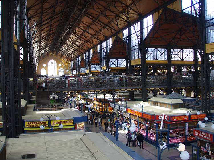 The Central Market Hall is a covered market with food vendors on the first floor and artisans on the second