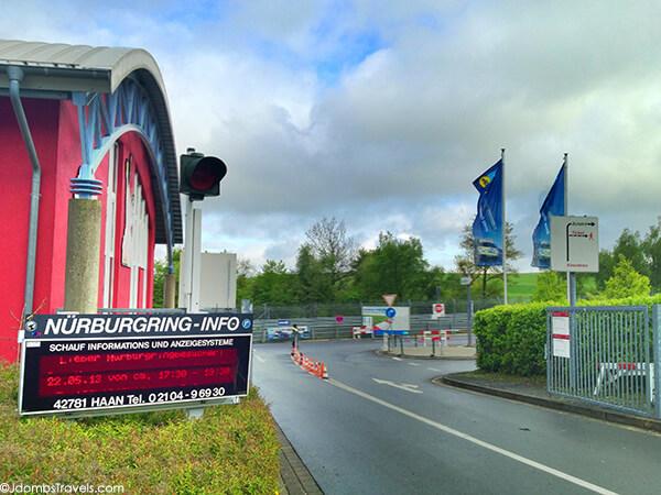 Nurburgring race track entrance