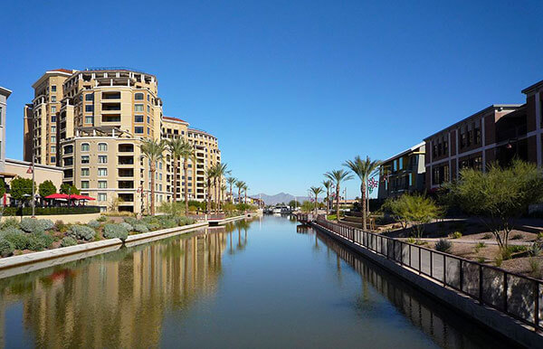 The canal at Scottsdale Waterfront