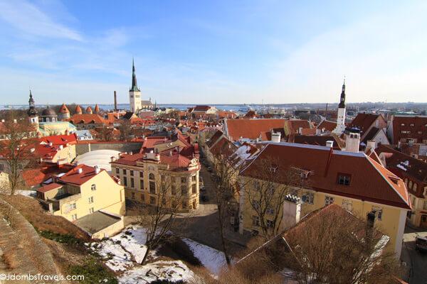 The rooftops of Talliin, Estonia
