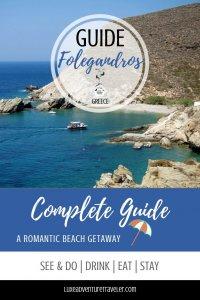Guide to Folegandros, Greece Pinterest Pin