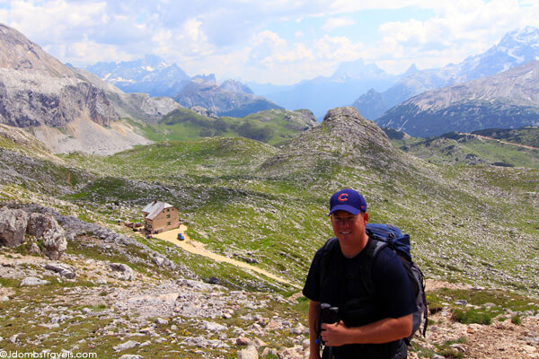 Tim above Rifugio Biella on day 1