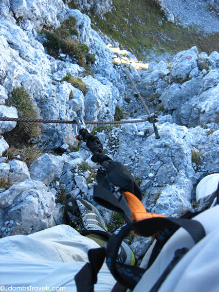 One of the Via Ferrata sections possible along the way.