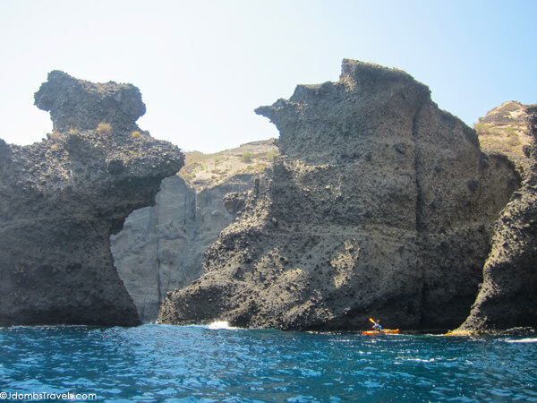 Sea kayaking Santorini
