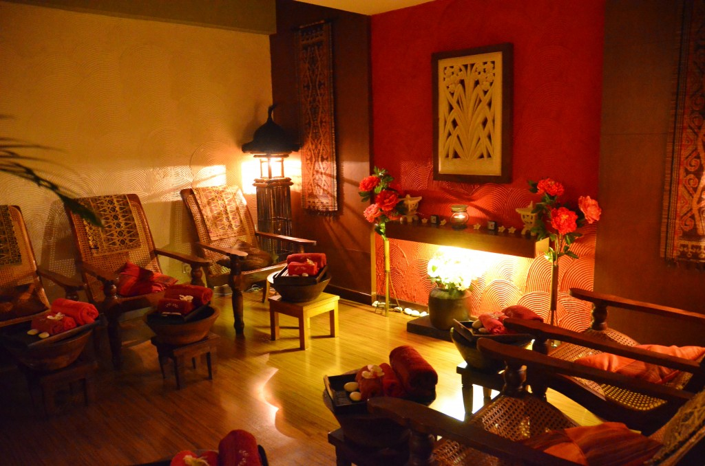Room where foot massages take place at Jari Jari Spa