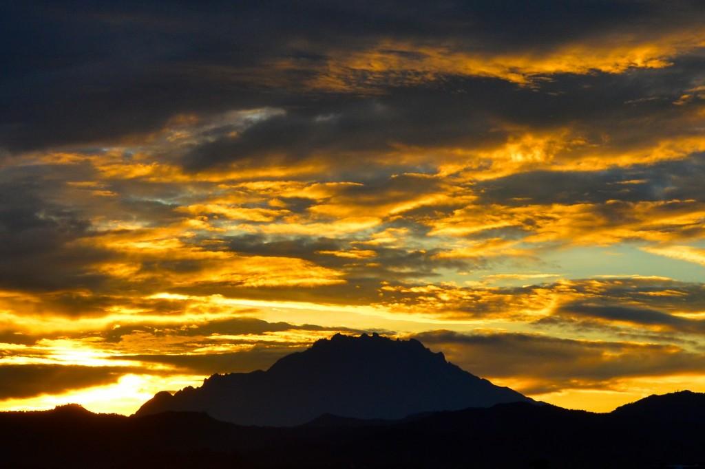 Sunrise over Mount Kinabalu