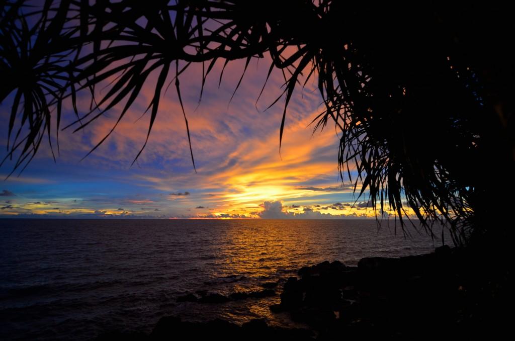 Sunset over Manukan Island