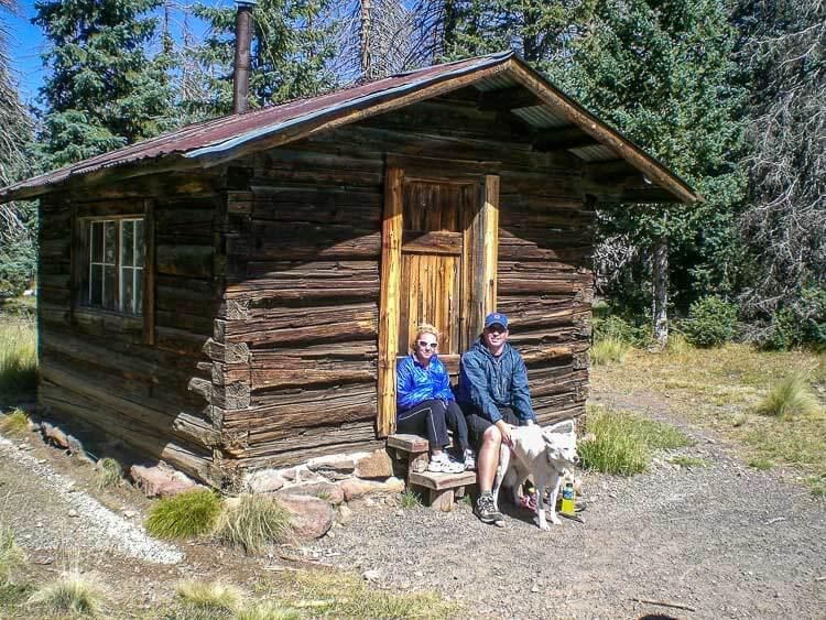 The historic cabin on Mount Kendrick near Flagstaff built in 1911