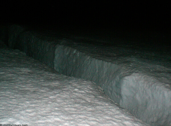 Crevasse on Mount Rainier