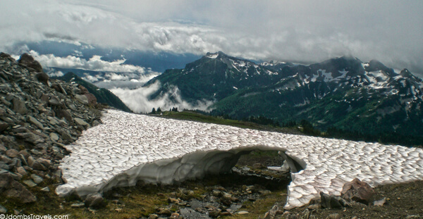 Snow bridge on Mount Rainier