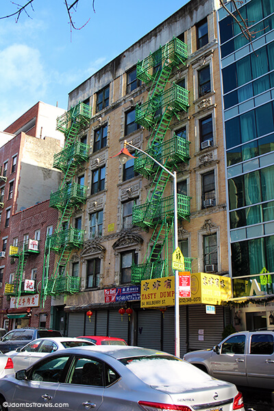 Tenement building Chinatown NYC