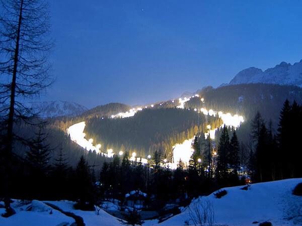 Zoldo Night Skiing