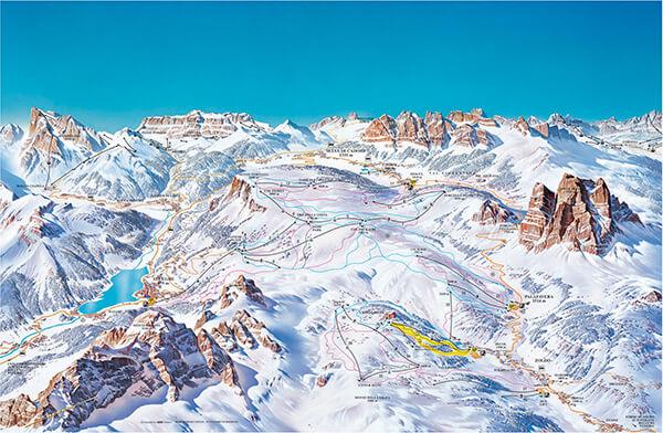 Civetta Ski Map