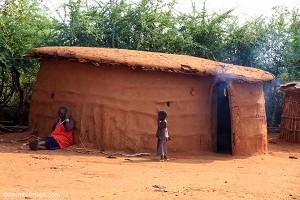Maasai house