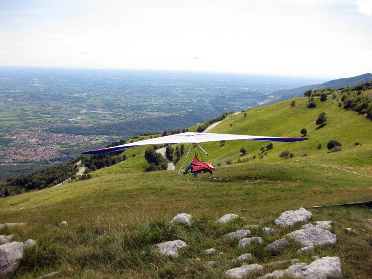 Gliding at Piancavallo