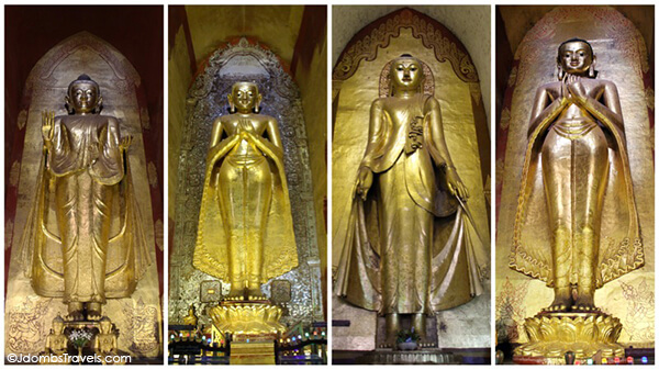 The four Buddhas of Ananda Temple