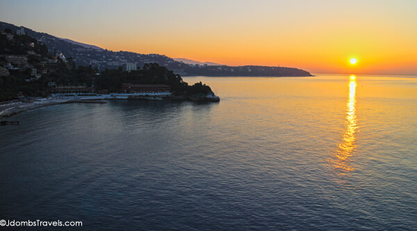 Sunrise from Monte Carlo Bay Hotel