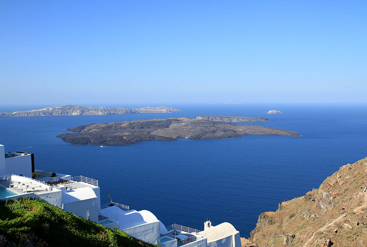 View out over the Caldera from Astra Suites in Santorini
