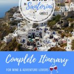 Santorini Itinerary Pinterest Pin
