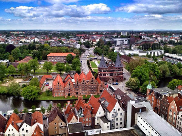 View of Lubeck from St. Peter's Church