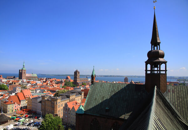 Looking out over Stralsund from St. Mary's